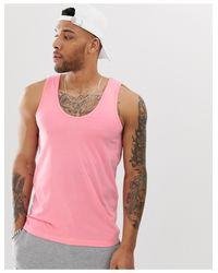 Camiseta sin mangas orgánica en rosa ASOS de hombre de color Pink