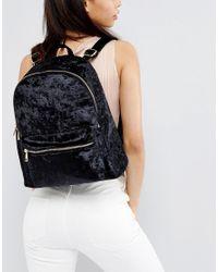 Yoki Fashion Multicolor Yoki Crushed Velvet Backpack