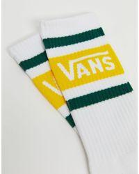 Vans White Tribe Crew Sock for men