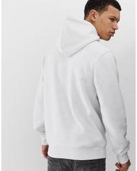 Sudadera con capucha y logo en blanco Nicce London de hombre de color White