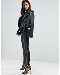 ASOS - Rivington High Waisted Denim Jeggings In Tonal Black And Washed Black - Lyst