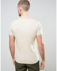 SELECTED - Gray T-shirt With Pocket for Men - Lyst