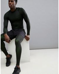 ASOS 4505 Yellow Running Tights In 2 Tone Jersey for men