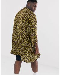 Кимоно С Жирафовым Принтом ASOS для него, цвет: Multicolor