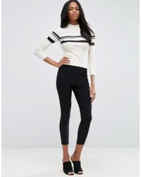 ASOS | Black High Waisted Skinny Crop Trousers | Lyst