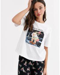 Пижамный Комплект С Футболкой И Леггинсами С Принтом ASOS, цвет: Multicolor