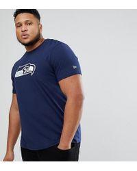 KTZ | Blue Plus Nfl Seattle Seahawks T-shirt In Navy for Men | Lyst