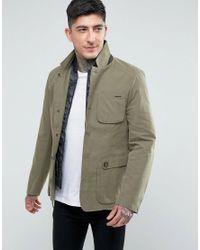 Parka London Green Blazer With Detachable Insert for men