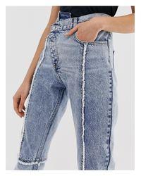 The 89' - Jeans slim con cuciture consumate rilavorate di Reclaimed (vintage) in Blue