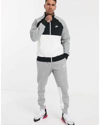 Nike – Trainingsanzug mit Farbblockdesign in Gray für Herren