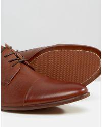 ALDO Brown Sagona Leather Derby Shoes for men