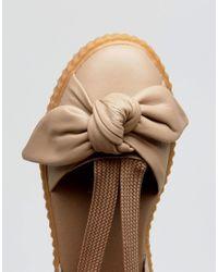 PUMA Natural X Fenty Bow Creeper Sole Sandal
