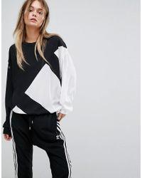 best website 3c99b 447b6 Women's Originals Eqt Chiffon Panel Sweatshirt In Black And White
