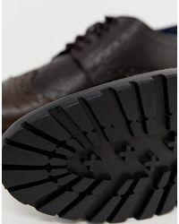 Коричневые Кожаные Броги На Толстой Подошве -коричневый Redfoot для него, цвет: Multicolor