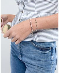 ASOS - Metallic Design Pack Of 2 Disc Chain And Woven Friendship Bracelets - Lyst