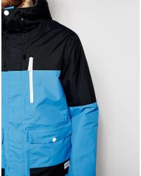 Clwr | Waterproof Jacket With Colourblock - Blue for Men | Lyst