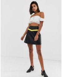 Vero Moda Black Faux Leather Moto Skirt