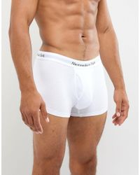 Abercrombie & Fitch 3 Pack Trunks Logo Waistband In White for men