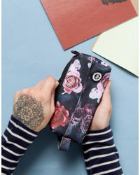 Hype Blue Pencil Case In Floral Print