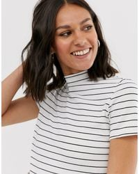 T-shirt a righe di Monki in Multicolor