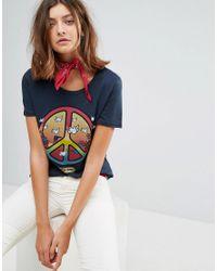 Wrangler Blue X Peter Max Peace Symbol T-shirt