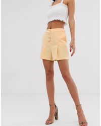 Shorts Miss Selfridge de color Yellow