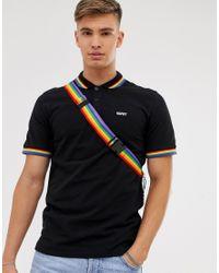 Polo à logo avec liseré arc-en-ciel - Noir Only & Sons pour homme en coloris Black