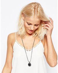 Nali - Gray Blue Little Drop Pendant Necklace - Lyst