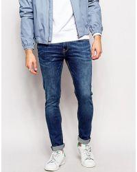 New Look Mid Blue Super Skinny Jeans for men