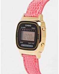 G-Shock La670wegl-4aef Mini Pink Leather Digital Watch