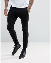 ASOS Black Extreme Super Skinny Joggers With Zip Pockets for men