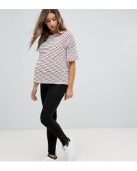 New Look Black Lace Up Ankle Leggings
