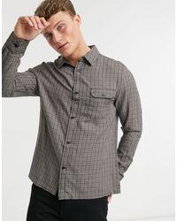 Коричневая Рубашка В Клетку -коричневый Цвет Topman для него, цвет: Brown