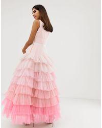 Vestido con capa Naf Naf de color Pink