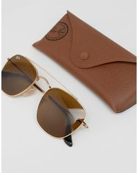 Ray-Ban Metallic Square Aviator Sunglasses 0rb3557 for men