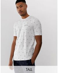 T-shirt bianca con logo di Nicce London in White da Uomo