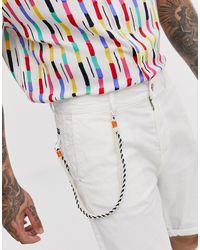 Short chino à détail corde Bershka pour homme en coloris White