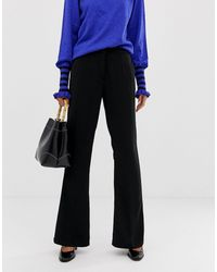 Y.A.S Black Flared Smart Trousers