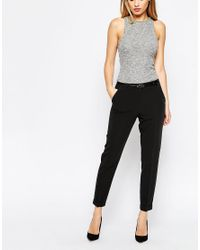 ASOS Black Cigarette Trousers With Belt