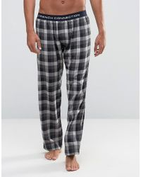 French Connection | Lounge Pants In Check - Blue for Men | Lyst