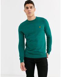 Maglione girocollo di Lyle & Scott in Green da Uomo