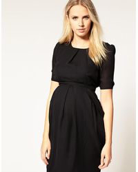 ASOS Black Tulip Dress