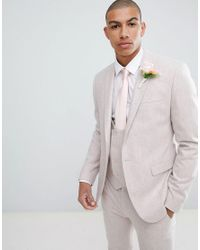 ASOS Pink Wedding Skinny Suit Jacket for men
