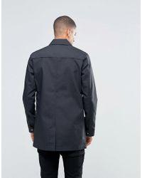 Solid - Black Tailored & Originals Mac for Men - Lyst