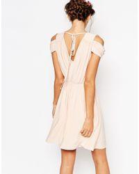 ASOS | Green Wedding Drape Cold Shoulder Mini Dress | Lyst