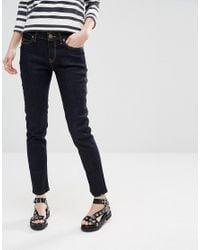 Vivienne Westwood Blue Anglomania Ar Skinny Jeans
