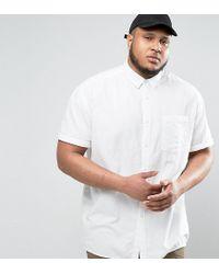 ASOS - Plus Oversized Oxford Shirt In White for Men - Lyst