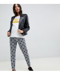 ASOS Multicolor Asos Design Maternity Under The Bump Tapered Peg Pants In Check Print With Spot