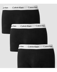 Calvin Klein Black 3 Pack Trunks Low Rise for men