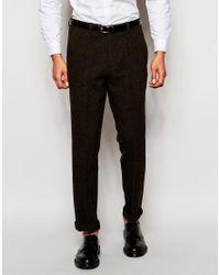 ASOS | Green Slim Smart Trousers In 100% Wool for Men | Lyst